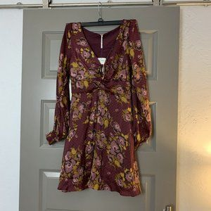 Free People Floral Mini Dress NWT 4